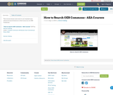 How to Search OER Commons - AEA Courses