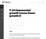 Exponential Growth Versus Linear Growth Ii