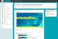 Orientation & Baseline Survey