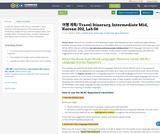 여행 계획/ Travel Itinerary, Intermediate Mid, Korean 202, Lab 06