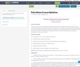 Fake News Course Syllabus