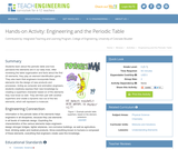 Engineering and the Periodic Table