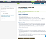 Cell-phone Video Quick Tips