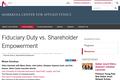 Fiduciary Duty vs. Shareholder Empowerment