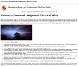 Activity Based Physics Alternative Homework Assignment: Electrical Safety 1