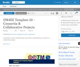 Intellectual Property Rights for Educational Environments (IPR4EE) Template 10 - Consortia & Collaborative Projects