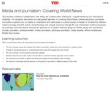 Media and journalism: Covering World News