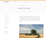 Teach Design: Harvest and Share