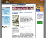 12. Societal Impacts of the American Revolution