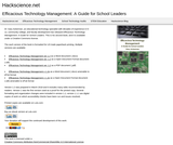 Efficacious Technology Management: A Guide for School Leaders