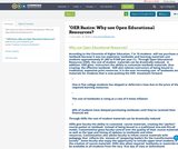 """""""OER Basics: Why use Open Educational Resources?"""