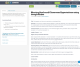 Sharing Goals and Classroom Expectations using Google Slides