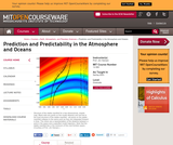 Prediction and Predictability in the Atmosphere and Oceans, Spring 2003
