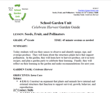 Harvest and Celebrate: Fourth Grade Lesson Plans
