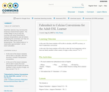 Fahrenheit to Celcius Conversions for the Adult ESL Learner