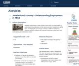Antebellum Economy - Understanding Employment in 1850
