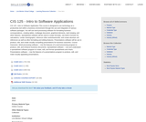 CIS 125 - Intro to Software Applications