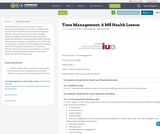 Time Management: A MS Health Lesson
