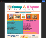 Romp & Rhyme Storytime Parent Activity Sheet: Gobble, Gobble!