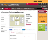 Information Technology Essentials, Spring 2005