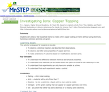 Investigating Ions: Copper Topping