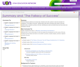 "Summary and ""The Fallacy of Success"""