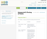 Integrated 1: Pacing of Tasks