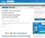 CORRE: An evaluation framework for transforming teaching materials into OERs