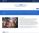 Spatial Data Science for Emergency Management