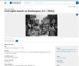 Civil rights march on Washington, D.C.