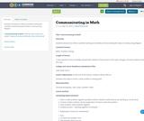 Communicating in Math