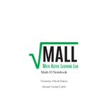 """Math Active Learning Lab: Math 93 Notebook"" by Michele Iiams and Gwennie Byron"