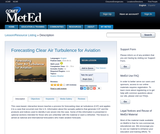 Forecasting Clear Air Turbulence for Aviation