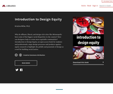 Introduction to Design Equity – Open Textbook