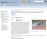 Public Health Emergency Planning and Management for Districts
