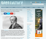 Restoration and 18th Century Poetry: From Dryden to Wordsworth