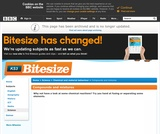 BBC Bitesize: Compounds and Mixtures