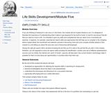 Module Five: Employability Skills
