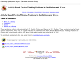 Activity Based Physics: Thinking Problems in Oscillations and Waves