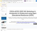 CEEA OER SIG Workshop A: Introduction to Open Educational Materials and Using OER in Your Classroom