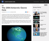The 2004 Antarctic Ozone Hole