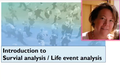Survival analysis and life event analysis (10:05)