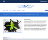 Foundations in Sustainability Systems