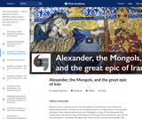 Alexander, the Mongols, and the great epic of Iran