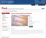 Issues in Survey Research Design