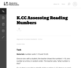 Assessing Reading Numbers