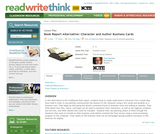 Book Report Alternative: Character and Author Business Cards