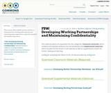 FSW: Developing Working Partnerships and Maintaining Confidentiality