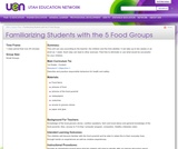 Familiarizing Students with the 5 Food Groups