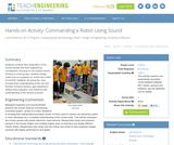 Commanding a Robot Using Sound